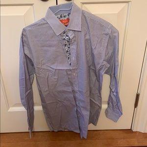 Tallia men's stripped button down shirt